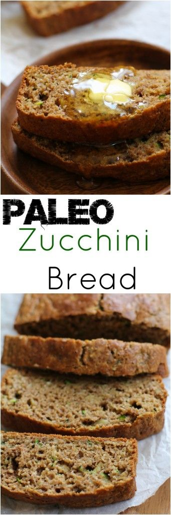 Paleo Zucchini Bread - grain-free, refined sugar-free, and healthy! | TheRoastedRoot.net #recipe #glutenfree #breakfast