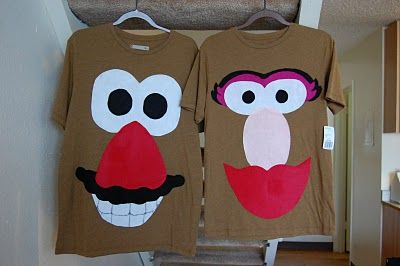 DIY Mr & Mrs Potato Head Costume -mommy & daddy's costume