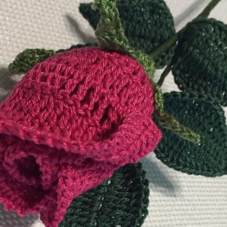 Free Crochet Long Stem Rose Pattern : Meer dan 1000 afbeeldingen over haken op Pinterest ...