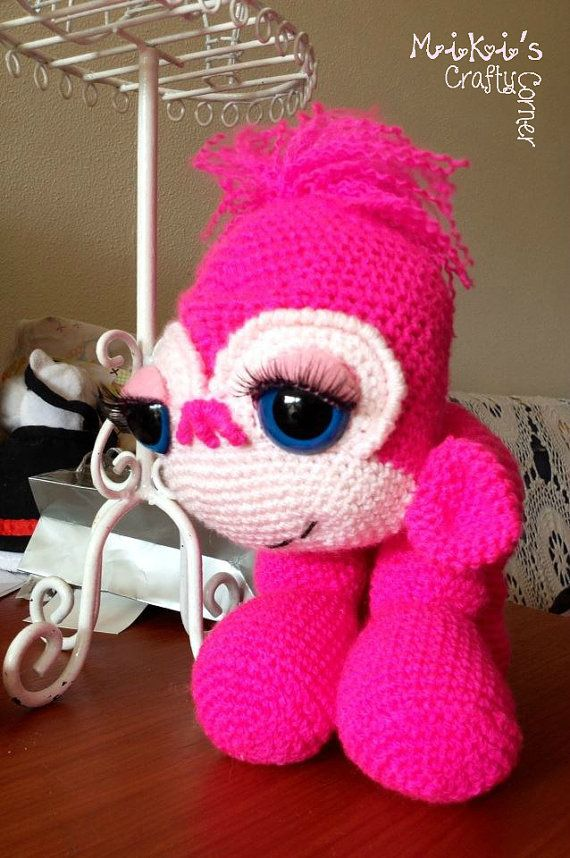 Yuna the Gorilla is pretty in pink She is by Mikiscraftycorner, $80.00