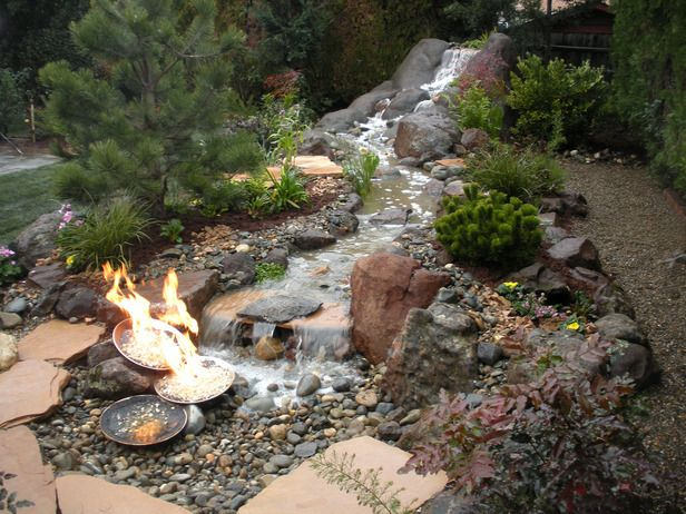 Best 25 outdoor waterfalls ideas on pinterest for Fire and water features