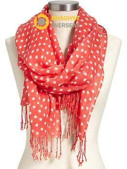 #printedscarves #cottonscarf #printedfabric #dotscarf #textileprinting #ladieswear #fashionaccessory #printedwear   Polka Dot Printed Cotton Scarves  Bhaghya Overseas Jodhpur  Manufacturer and Exporter of Handicraft and Textiles