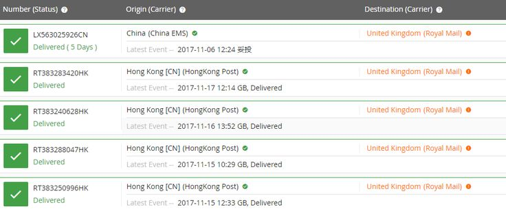 UK shipping status