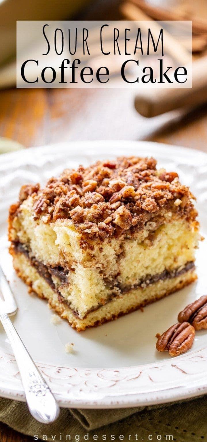 Sour Cream Coffee Cake Recipe In 2020 Sour Cream Coffee Cake Coffee Cake Easy Cake Recipes