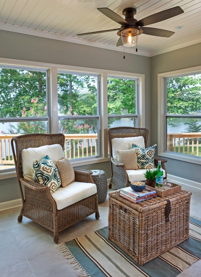 11 best sunroom with fireplace images on pinterest for Enclosed porch furniture ideas