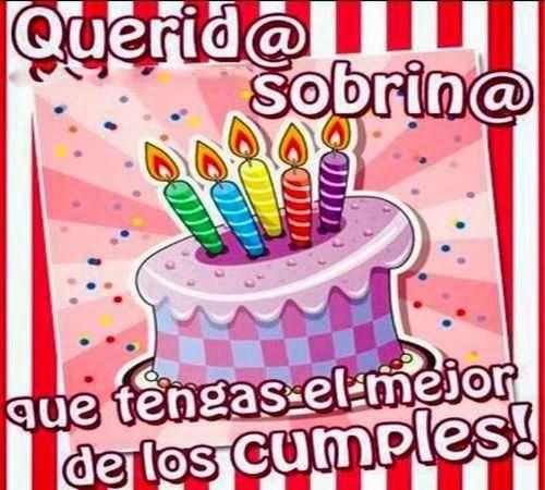 Frases de cumpleaños para una sobrina felicitaciones Pinterest Santiago, Frases and Tes