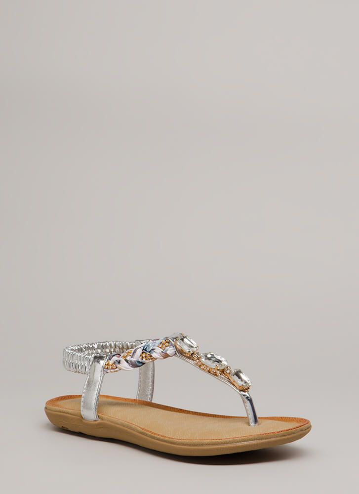 c96040c3d31f0 Braided Beauty Jeweled T-Strap Sandals | Fabulous and Affordable ...