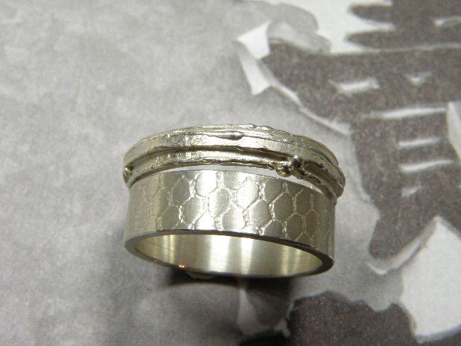 * ringen | oogst-sieraden * Aanschuifringen * Ring dubbele wasstructuur * 170 euro * Ring met tulestructuur * 120 euro *
