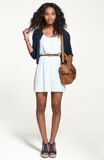 Rubbish® Dress & Frenchi® Cardigan | Nordstrom