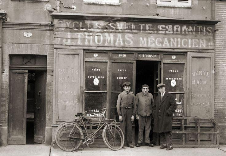 Commerce Mécanicien marchand de vélo cycle Toulouse Photo ancienne 1920 retirage