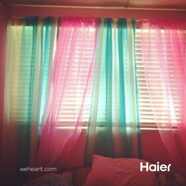 Mix and match your sheer curtains. | 40 Easy DIYs That Will Instantly Upgrade Your Home