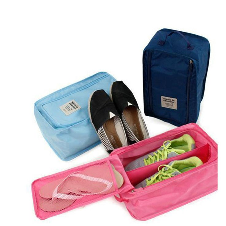 De Malla De nylon bolsa de Viaje Bolsa de Cosméticos Bolsa de Mano Portátil A Prueba de agua Bolsa de Zapatos de Viaje Portátil Ventilación Organizador
