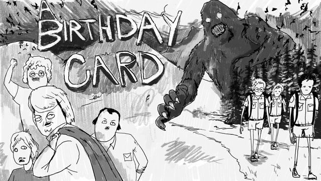 Audio sourced from the 1975 cryptozoological documentary entitled, 'The Mysterious Monsters', watched with my grandfather over and over again as a child (among other similar documentaries).  this is a card for him on his 86th birthday.