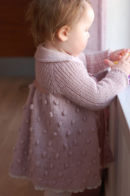 Ravelry: TouchOfVanilla's Knutekjole girl knit dress pattern