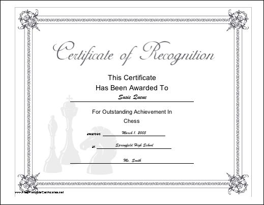 The 25+ best Sample certificate of recognition ideas on Pinterest - printable certificate of recognition