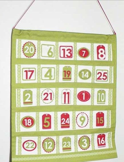 28 best images about 2013 hanging storage bag diy for Handmade christmas countdown calendar