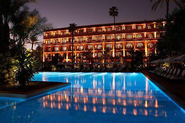 Hotel Mamounia, jardin exotique et drink