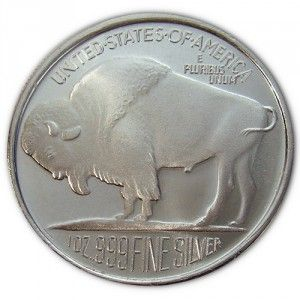 Buffalo Silver 1 oz. Rounds - Privately Made, Low Premiums,  Buffalo Silver Rounds are 1 troy ounce of fine silver making them a perfect way to acquire silver close to current market prices.   Each coin contains a hallmark stamped on it to guarantee its weight and purity. Buffalo Silver Rounds carry some of the lowest premiums over the spot price of Silver, which makes them very easy to  sell, trade, or barter with, anywhere in the world.