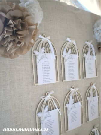 Distribucion de mesas boda. Wedding seating chart. www.mommas.es