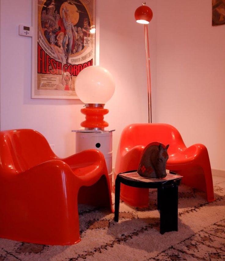 STILUX 60s table lamp # Sergio Mazza, 60s Toga chairs, Artemide 1968 | modernismi@libero.it