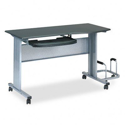 Tiffany 8100TDANT Eastwinds Mobile Work Table 57w x 23-1/2d x 29h Charcoal Laminate Top by Tiffany. $445.51. Pull-out keyboard shelf with wrist rest that flips up to reveal pencil storage. Table top curves forward for comfortable mousing. Overall dimensions include the CPU holder. Material(s): N/A. Sold as 1 each.