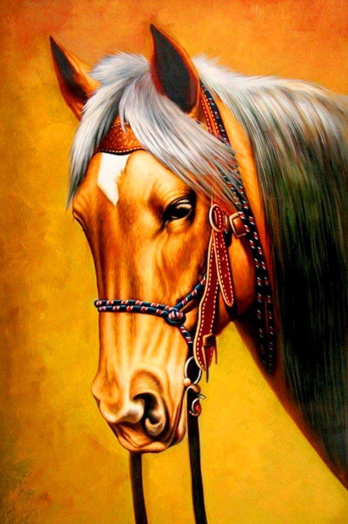 Pintura moderna al leo cuadros pintura oleo caballos for Imagenes de cuadros abstractos famosos