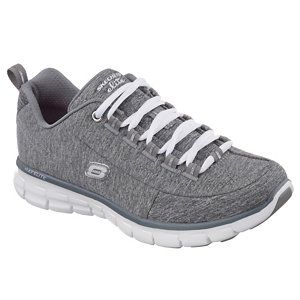 Skechers Womens Dark Grey Dark Grey Flex Appeal Spot Trainers Lazy Shoes