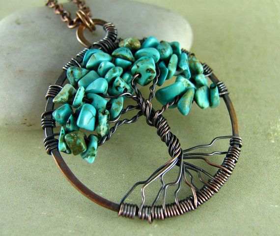 Tree Of Life Necklace Wire Wrapped Pendant by PolymerPlayin, $30.00