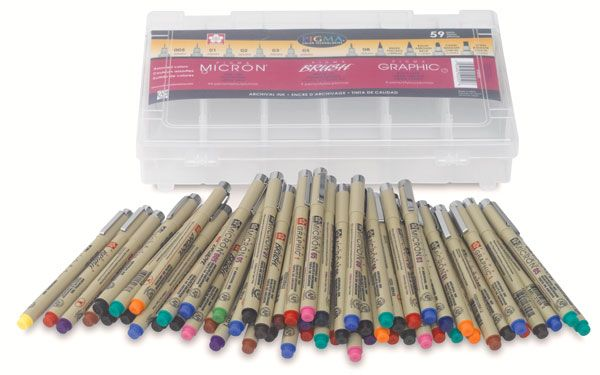 WANT WANT WANT!! Sakura Micron Pen set at Dick Blick Art Supplies $102