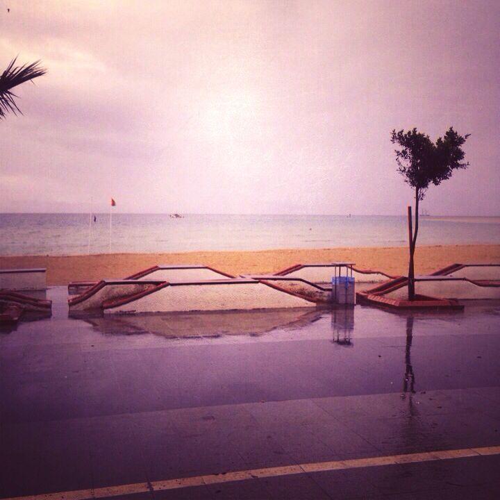 Altinkum First beach in the winter rain..... it isn't always sunny here :)