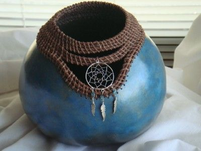 "*Gourd Art - ""Dreamcatcher"" by Sandy Phillips"