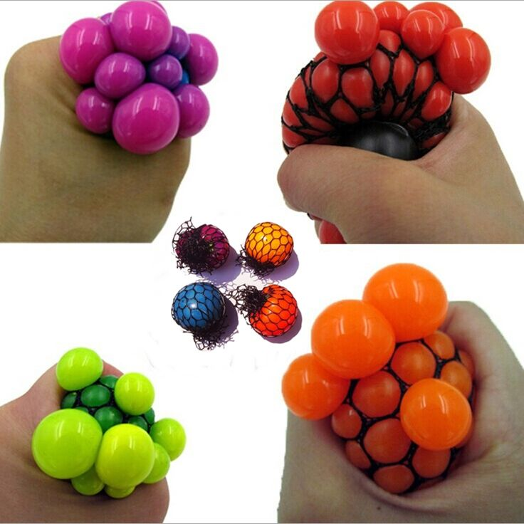 5pcs/lot Anti Stress Reliever Squeeze Grape Ball Autism Adhd Mood Relief Novelty Toy Gift wolesale