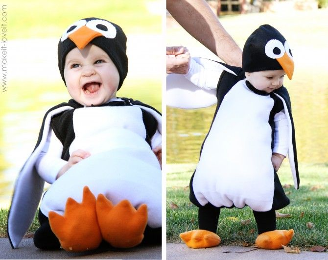 Halloween Kid Penguin Costume http://www.handimania.com/sew/halloween-kid-penguin-costume.html