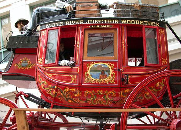 White River Junction Woodstock U.S. Mail- Concord Mail Coach detail