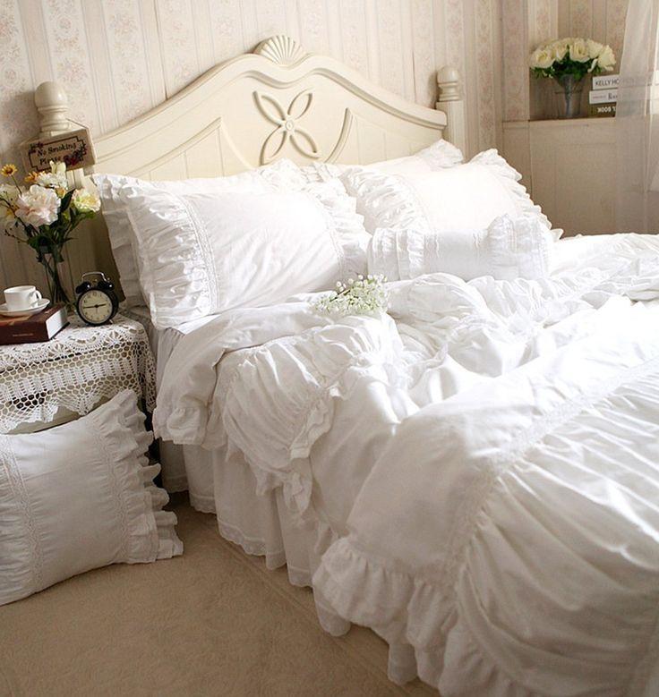 Amazon.com: Idyllic Life Ruffle Frill White 100% Cotton ...