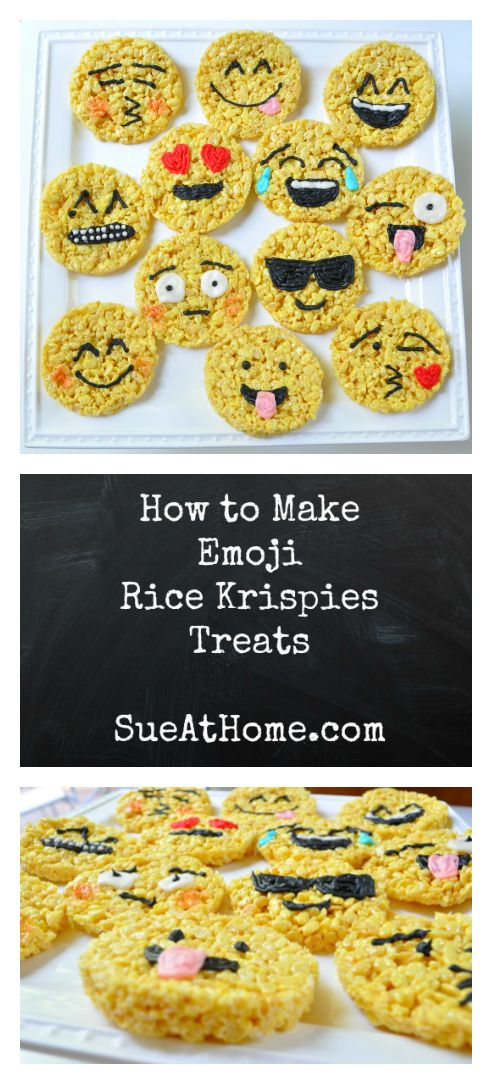 How to Make Emoji Rice Krispies Treats