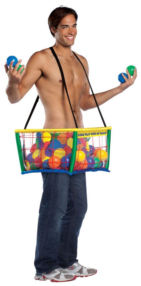 Oh boy, who wants to play in the ball pit? This Halloween costume could create new play friends :)