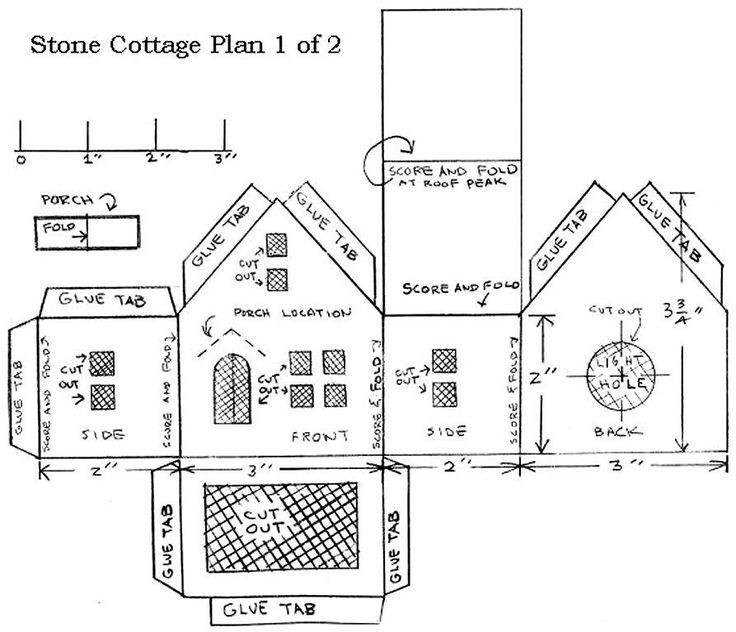 Cardboard House Patterns | Printing the Plans - We've provided two versions to help you print the ...