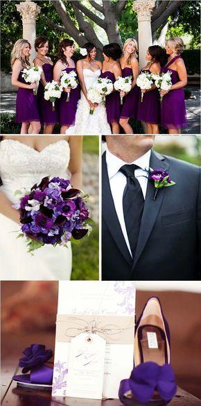 Un Mariage aux tons prune et lavande