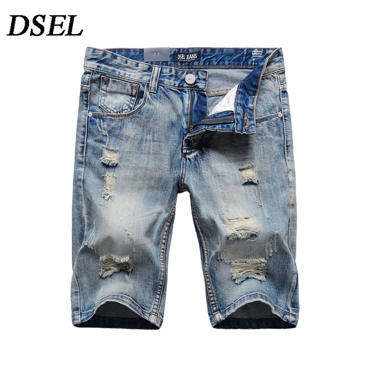 19.99$  Watch here - Summer Designer Solid Light Blue Jeans Shorts Men High Quality Brand Clothing Scratch Denim Knee Shorts Men`s Shorts Jeans 1001  #magazineonlinewebsite