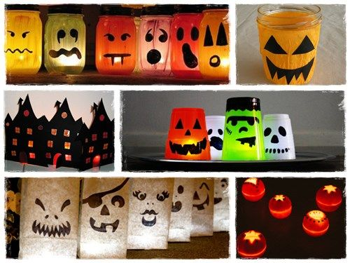 Bricolage Halloween lanterne photophore