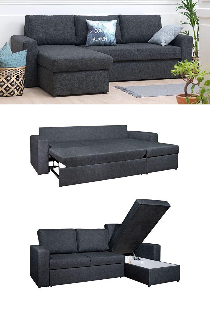 Mariager Sofa Bed Dark Grey In 2019 Sofa Bed Ikea