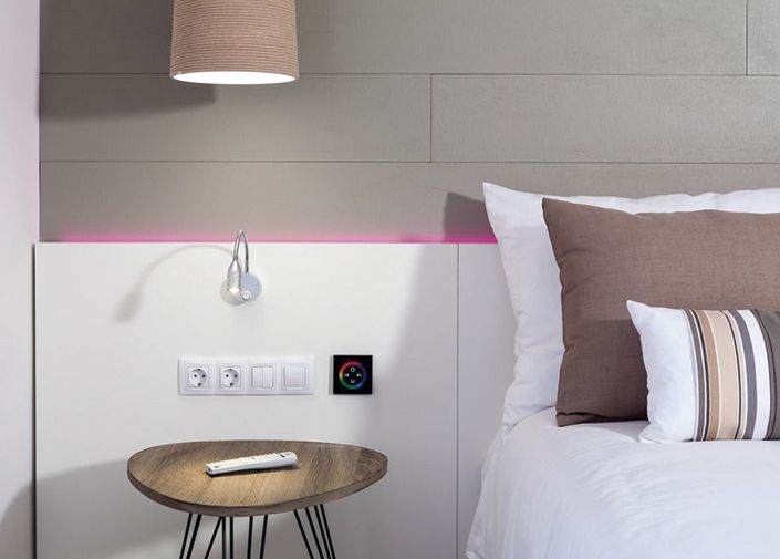 Tali lamp decorates Dream Place Hotel Noelia Sur. Modern and non-conformist room. (2015)