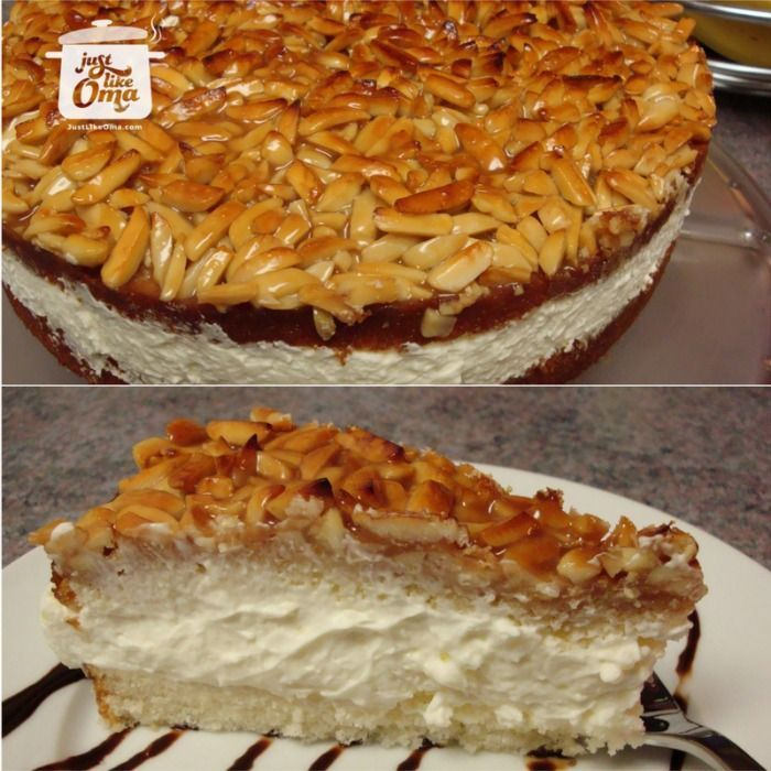 "Bienenstich Cake: Mike's birthday cake, a German ""Bee Sting"" cake. http://www.quick-german-recipes.com/bienenstich-recipe.html ❤️it!  it! Make it! Enjoy it!"