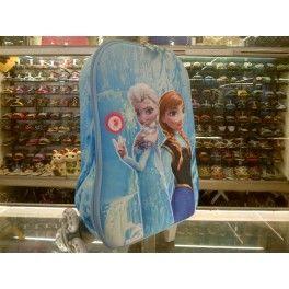 Tas Sekolah Anak Trolley Roda Import TK SD 3D Hard Cover Frozen
