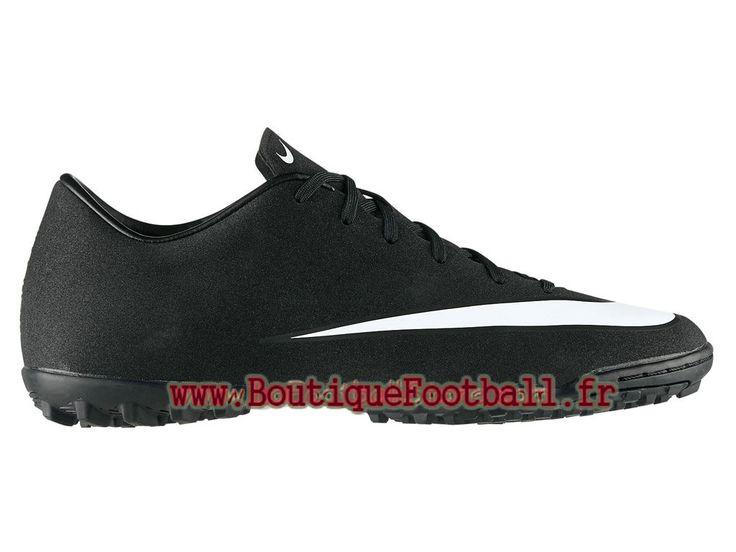 Nike Mercurial Victory V TF CR7 Chaussure de football à crampons pour gazon synthétique pour Homme Noir/Blanc 684878-014