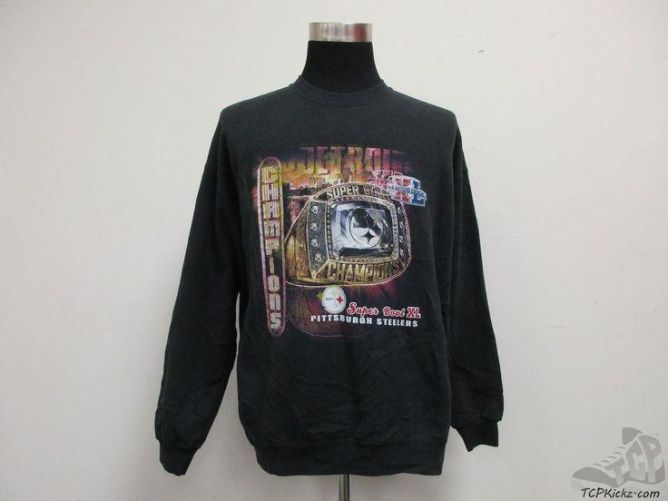 Lee Sport Pittsburgh Steelers Crewneck Sweatshirt sz L Large Super Bowl XL 40 #LeeSport #PittsburghSteelers