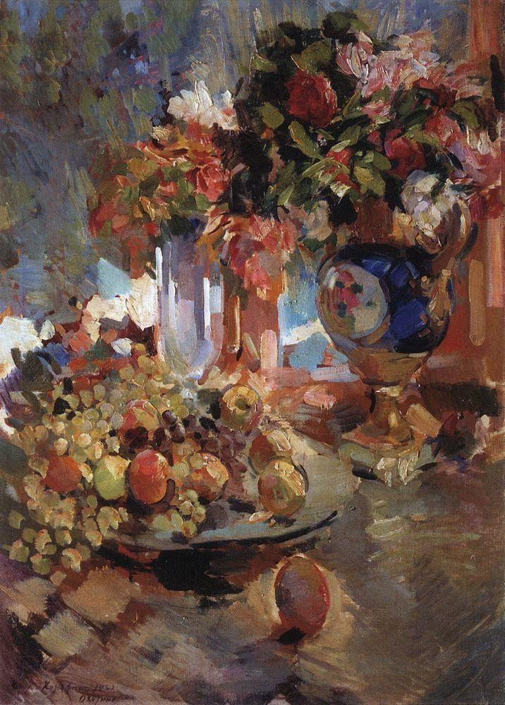 Still Life with Blue Vase - Konstantin Korovin -