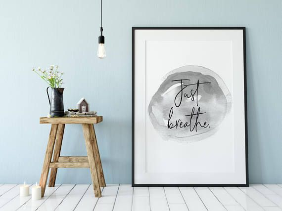 Just Breathe! Yoga Poster
