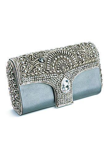 Modern Fairytale / Cinderella...   Valentina Alexandra crystal embellished baby blue clutch handbag